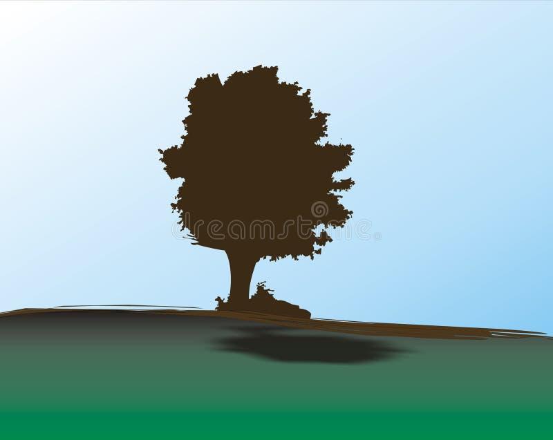 Eiken boom stock illustratie