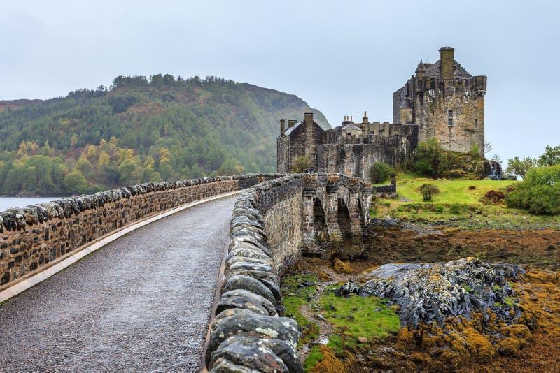Eilan Donan城堡在苏格兰 库存图片