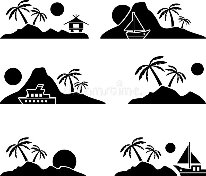 Eiland vector illustratie