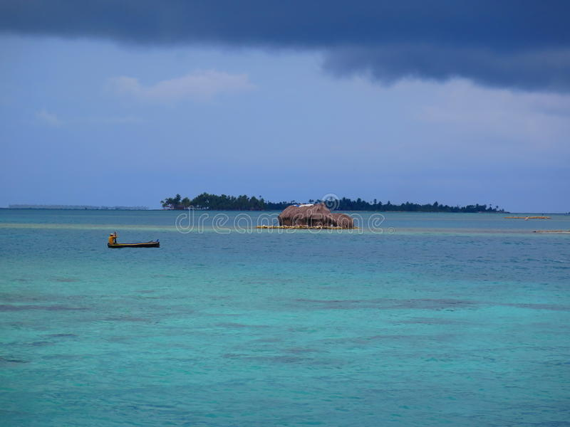 Eiland bij San Blas, Panama stock fotografie