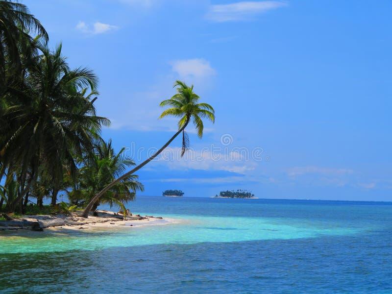 Eiland bij San Blas, Panama royalty-vrije stock foto