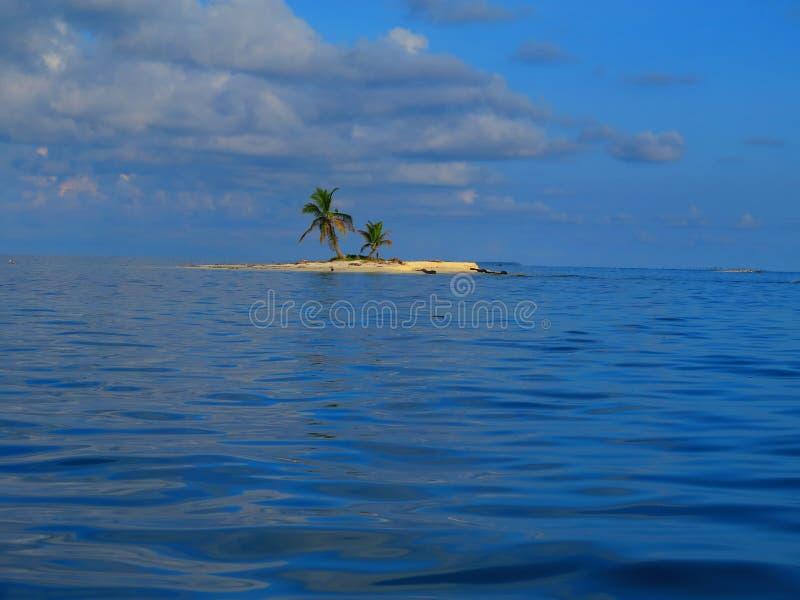 Eiland bij San Blas, Panama stock afbeelding