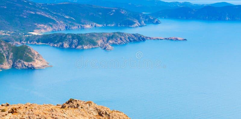Eiland Corsica Zuid-Corsica stock afbeelding