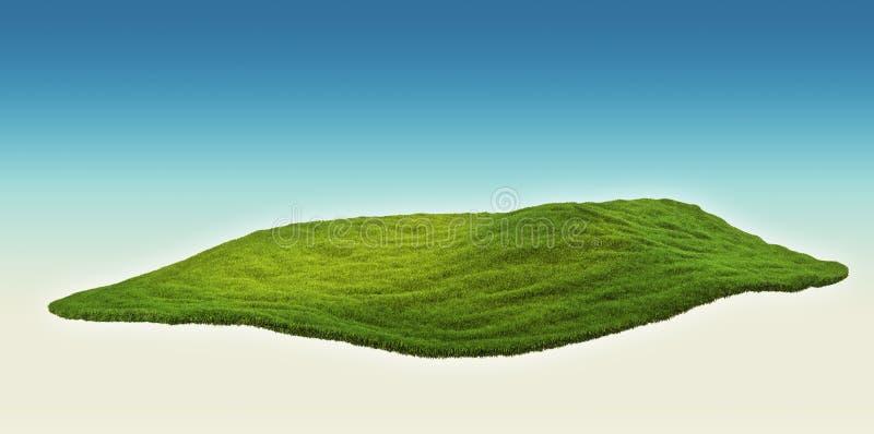 Eiland in de lucht stock illustratie