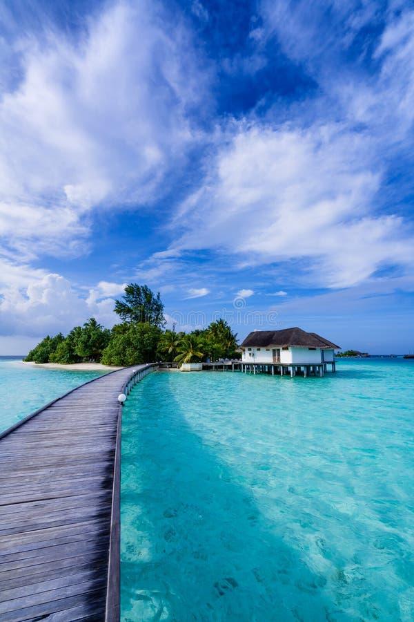 Eiland de Maldiven royalty-vrije stock afbeelding