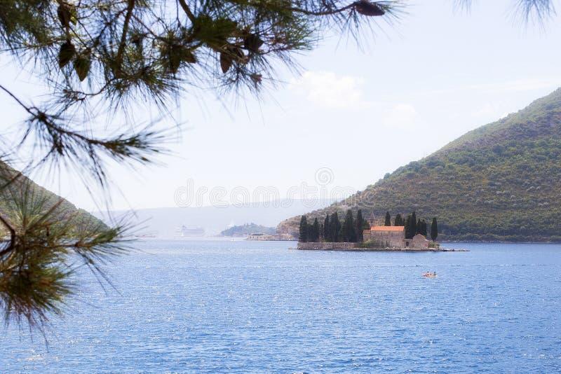 Eiland in het Adriatische Overzees royalty-vrije stock afbeeldingen