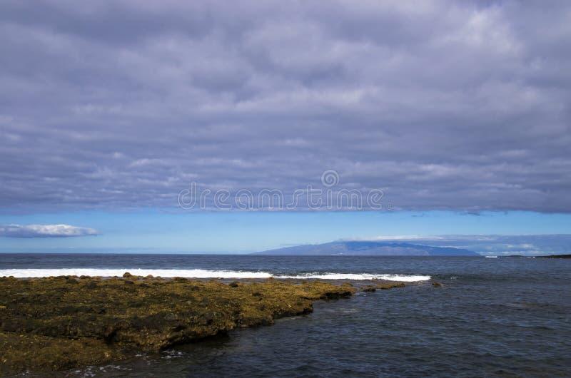 Eiland Homerus op de horizon royalty-vrije stock foto's