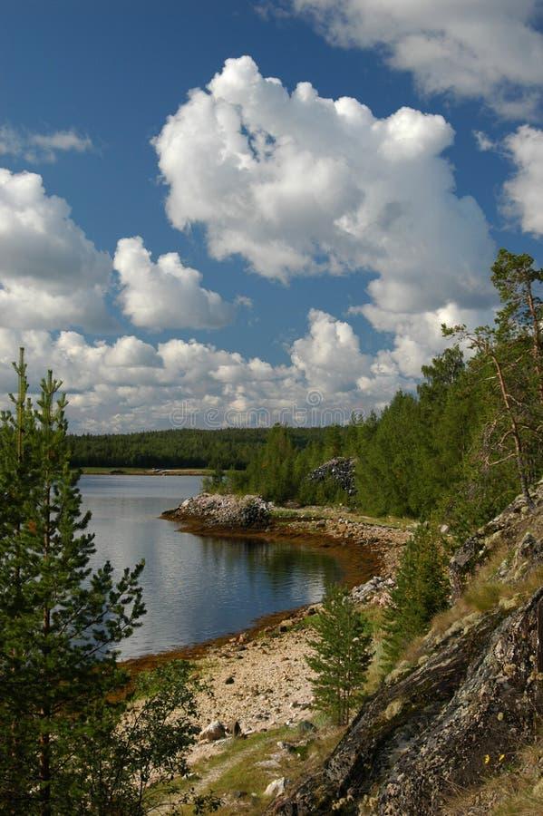 Eiland in Karelië stock foto