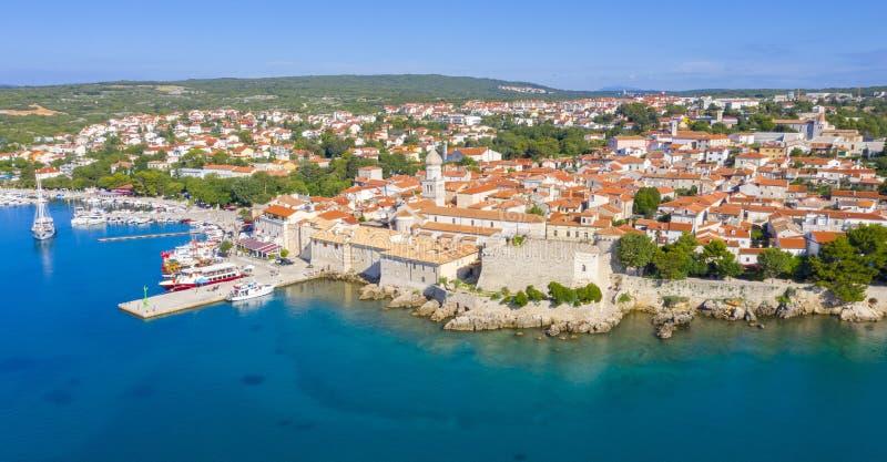 eiland Krk in Kroatië stock fotografie
