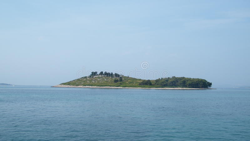 Eiland in Kroatië stock afbeeldingen