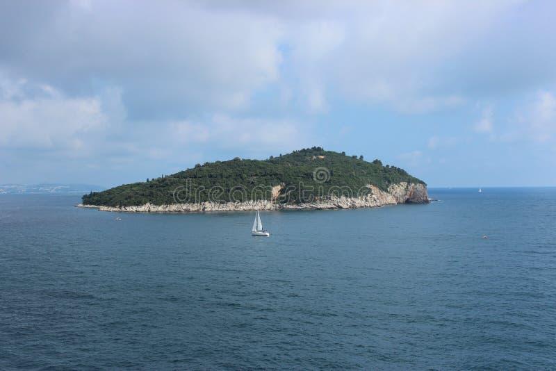 Eiland Lokrum, Dubrovnik, Kroatië royalty-vrije stock foto's