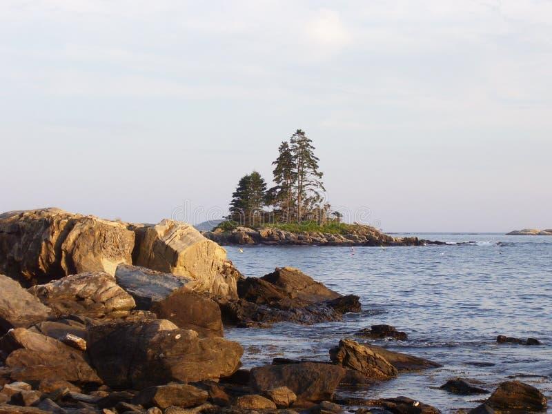 Eiland in Maine royalty-vrije stock fotografie