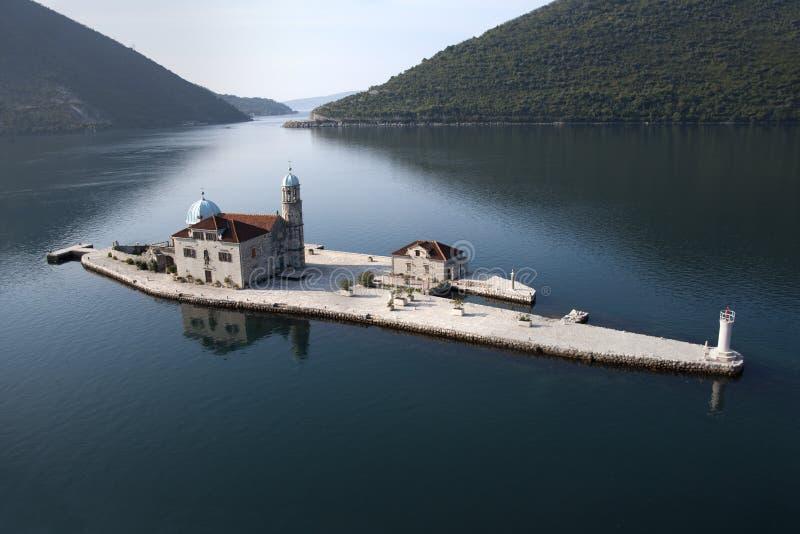 Eiland met klooster stock foto
