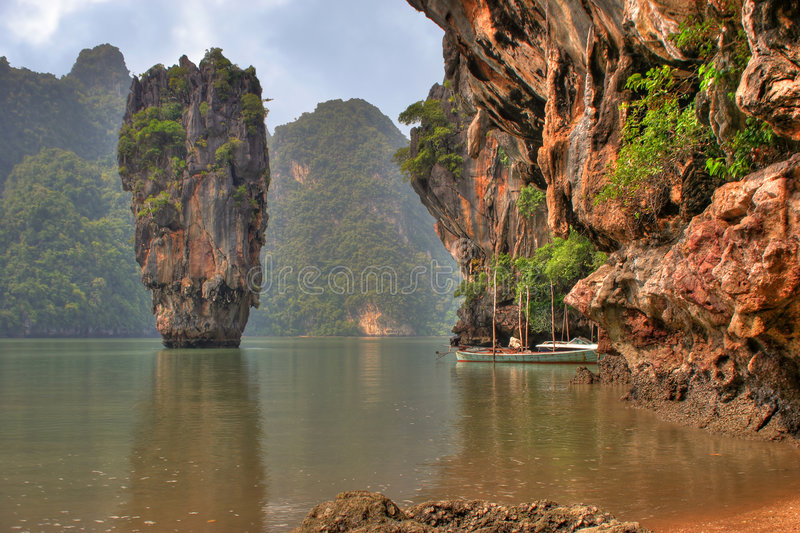 Eiland, Phang Nga, Thailand royalty-vrije stock afbeeldingen