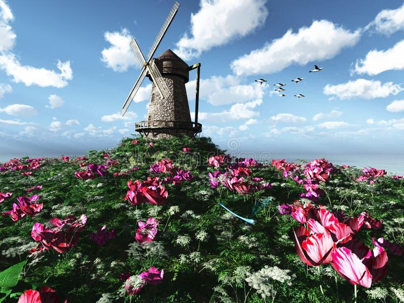 Eiland van Bloemen stock illustratie