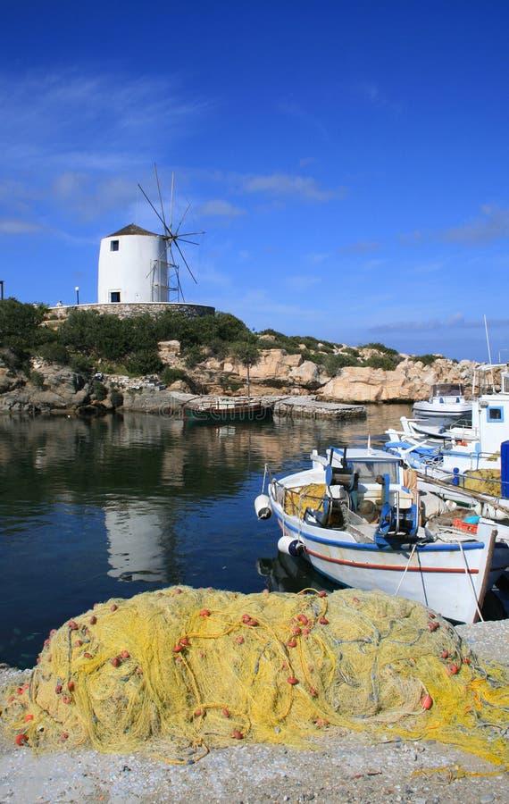 Eiland van de havenParos van Paroiakia het oude, Griekenland royalty-vrije stock foto's