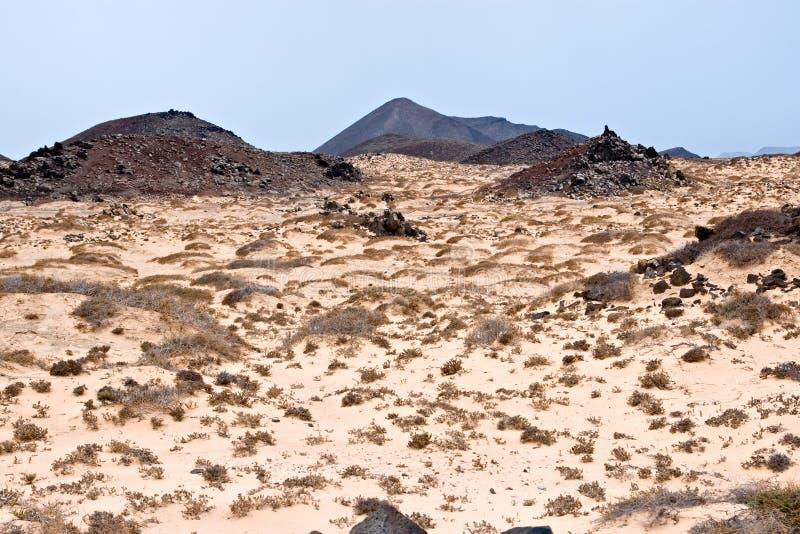 Eiland van Los Lobos, Fuerteventura, royalty-vrije stock foto