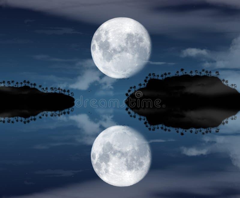 Eilanden bij nacht royalty-vrije illustratie