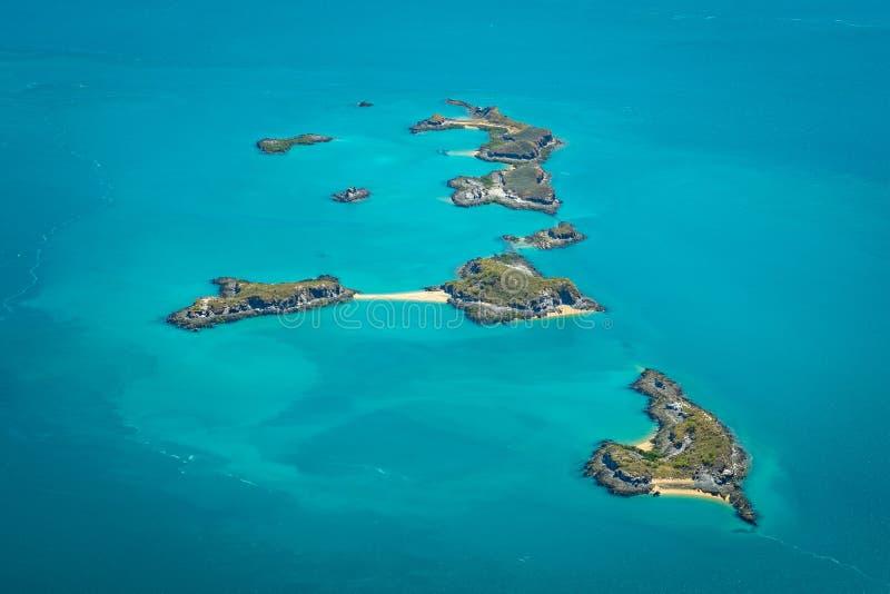 Eilanden in de Zeeroverarchipel, Westelijk Australië royalty-vrije stock fotografie