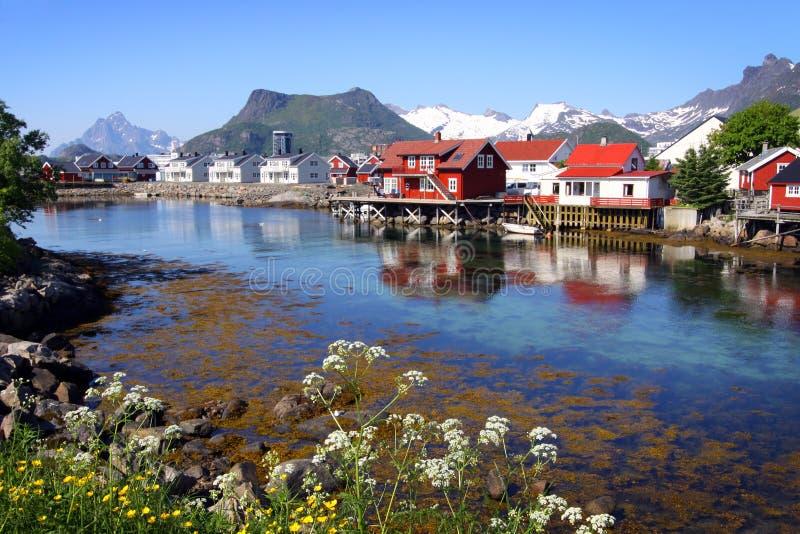 Eilanden III van Lofoten stock foto's