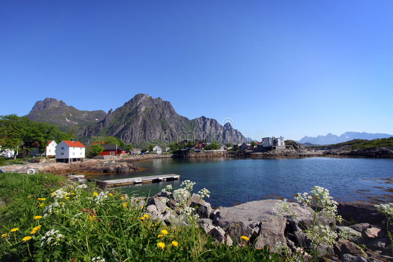 Eilanden IV van Lofoten stock foto