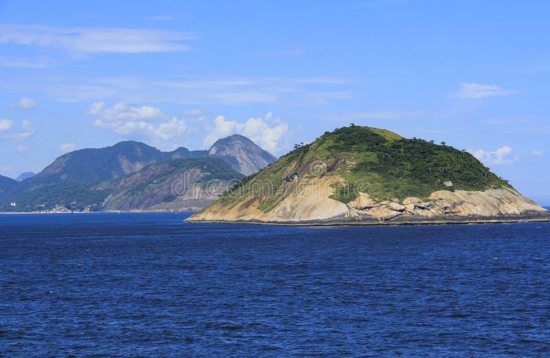 Eilanden rond de wereld, Redonda Eiland in Rio de Janeiro, Brazilië stock fotografie