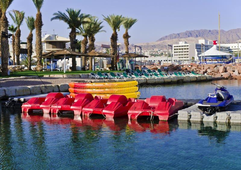Eilat é uma estância citadina famosa, Israel imagem de stock