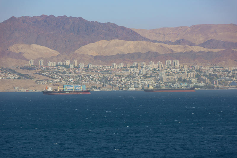 Eilat и горы Синая стоковые изображения rf