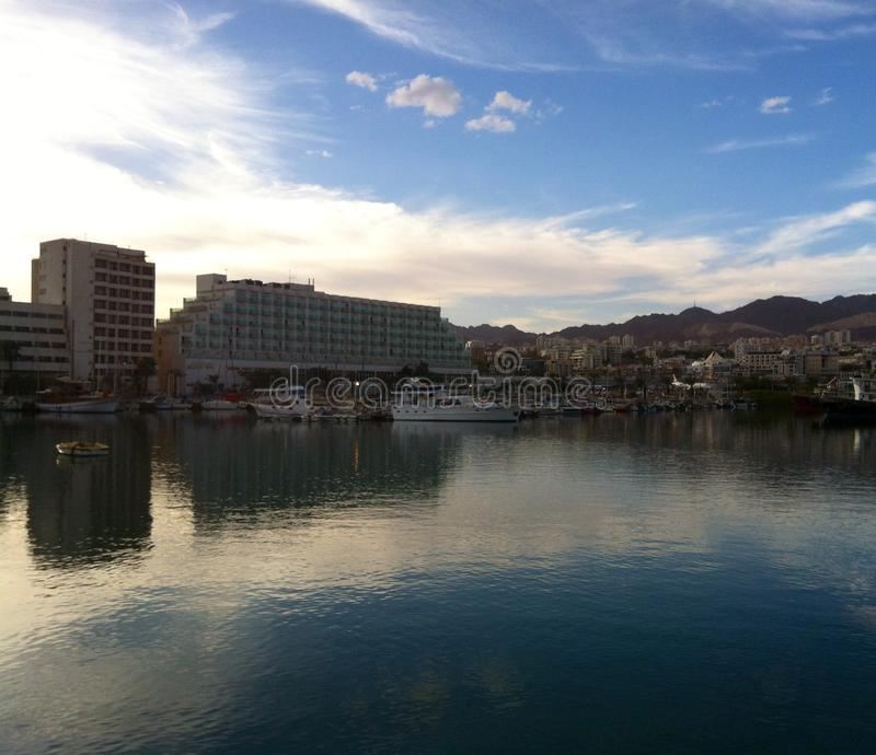 Eilat bay stock photography