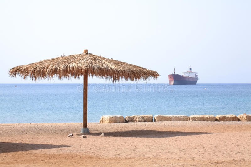 Eilat beach. Gulf Of Aqaba, the Red sea royalty free stock image
