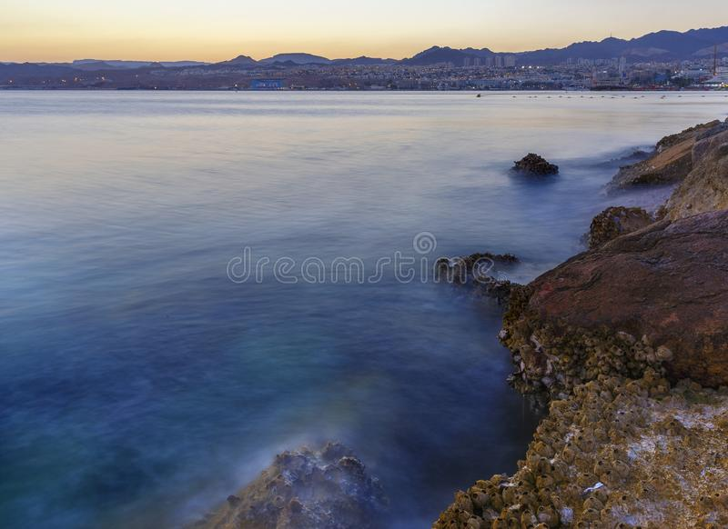Eilat on the Gulf of Aqaba of the Red Sea royalty free stock image