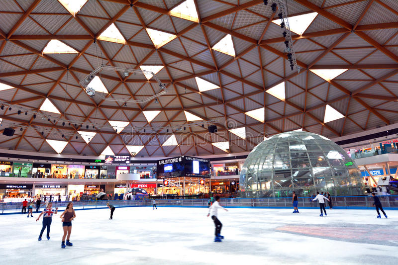 Eilat Ice Park and Mall in Eilat Israel. EILAT, ISR - APRIL 15 2015:Eilat Ice Mall in Eilat, Israel.It's the largest complex of its kind in the world that offers royalty free stock photo