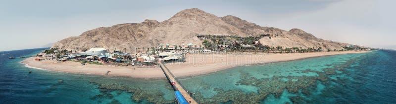 Eilat island. A beautiful island view of Eilat City stock photo