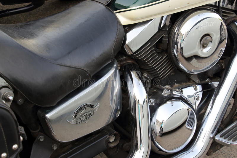 Eilat, Israel April 29-2017. Motorcycle side view. royalty free stock photos