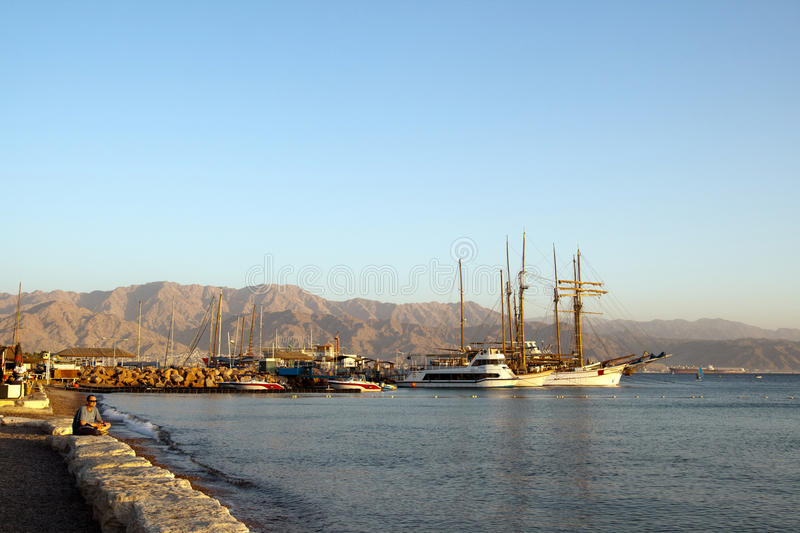 Eilat, Israel, December 2011 - View on the bay royalty free stock photos