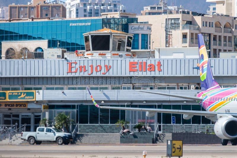 Eilat airport in Eilat. Eilat, Israel - February 9, 2019: Eilat airport in Eilat stock photos