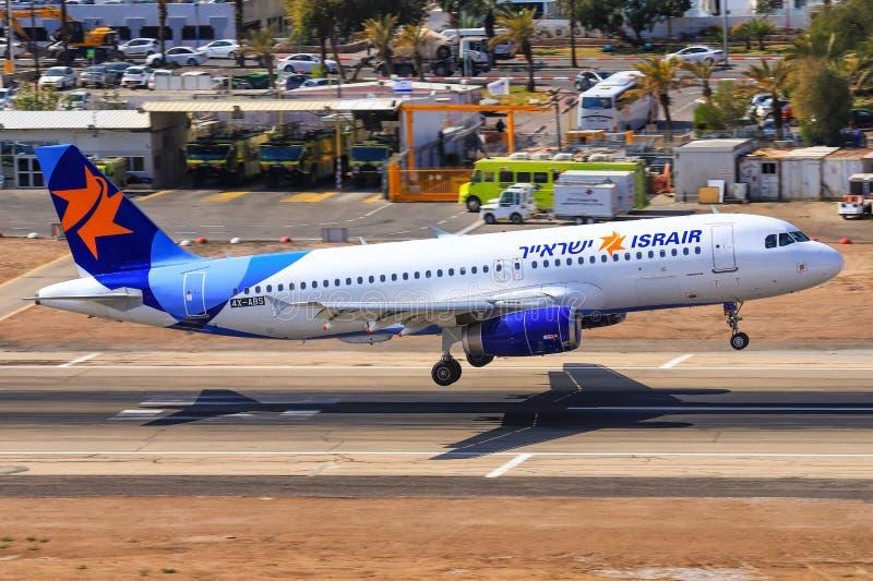 Israir Airbus A320-232. Eilat, ISRAEL-February 24, 2019: Israir Airbus A320-232 at old Eilat international Airport royalty free stock image