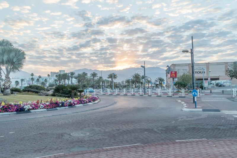 Sunrise view at Eilat. Eilat, Israel - February 10, 2019: Sunrise view at Eilat in the early morning stock photos