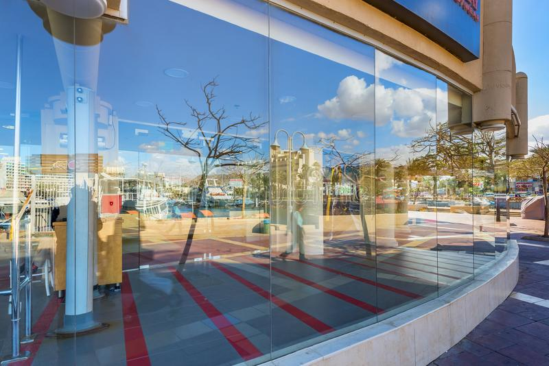 Eilat, Israel - January 15, 2018: Central promenade in Eilat. Eilat is a famous resort city in the Middle East. Here there are many shopping centers located on stock photos