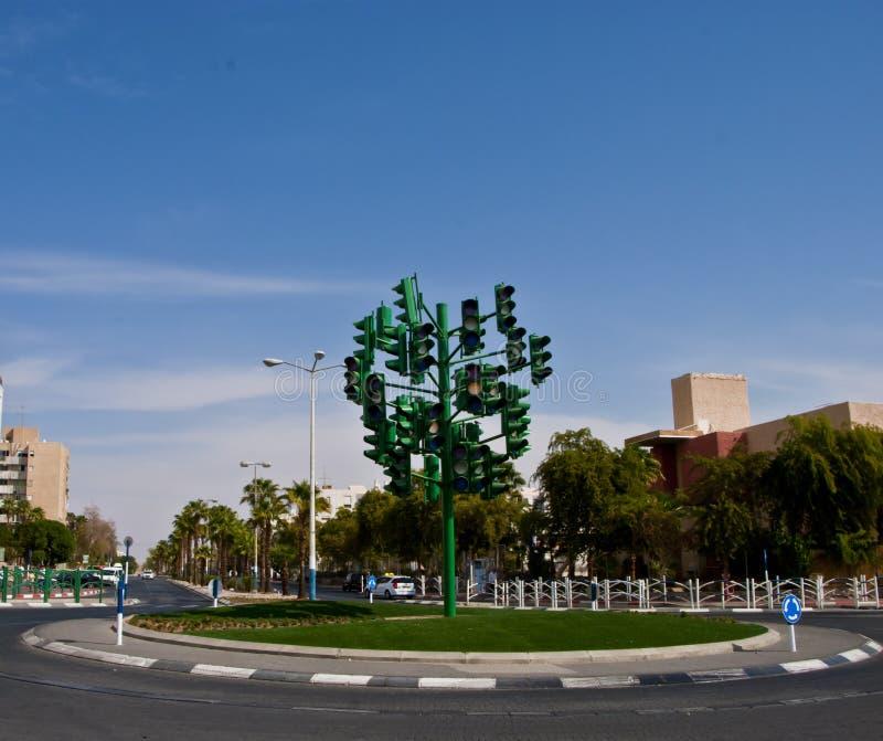 eilat Israel kopyto szewskie światła ruch drogowy zdjęcie stock