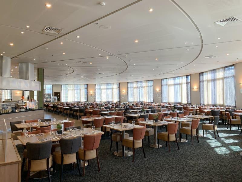 Dining room at Dan Panorama Hotel royalty free stock images