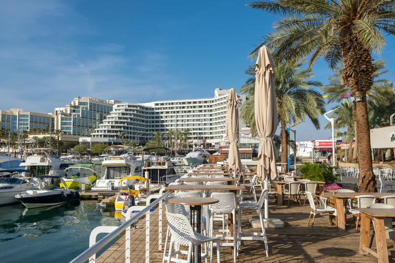 Seafront of Eilat - famous resort city on the red sea in Israel royalty free stock image