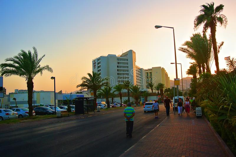 Eilat. Israel. The shore of the Gulf of Aqaba. Eilat. The southernmost city of Israel on the shore of the Red Sea stock photography