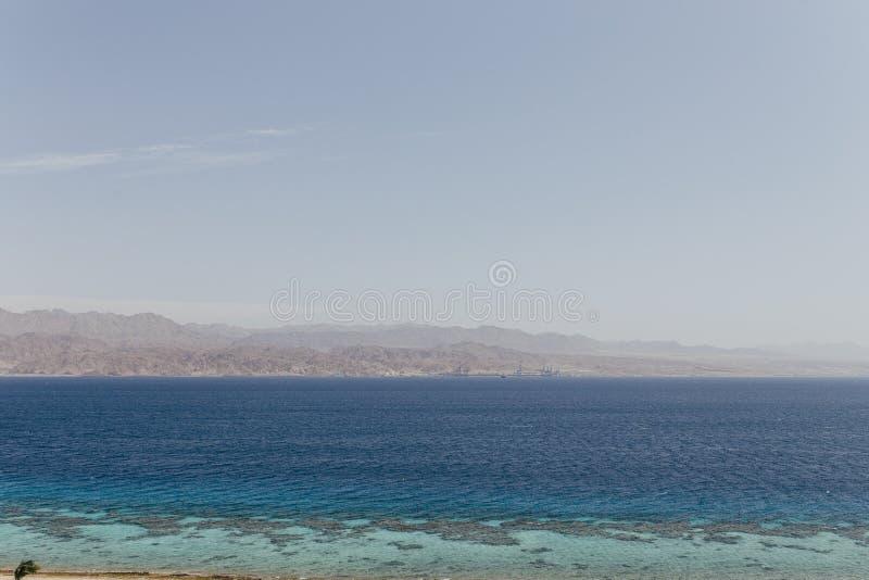 Eilat Izrael krajobrazy & urlopowy miejsce przeznaczenia fotografia stock