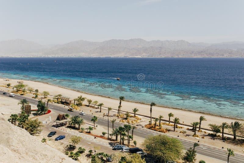 Eilat Izrael krajobrazy & urlopowy miejsce przeznaczenia obrazy stock