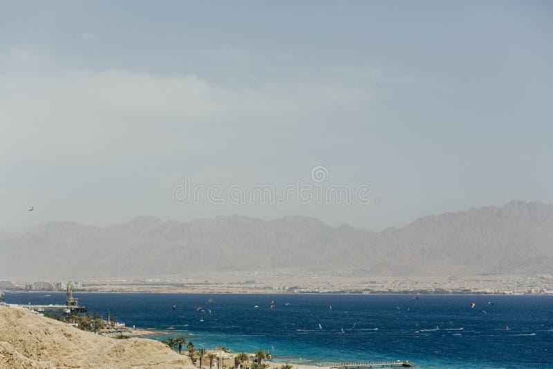 Eilat Izrael krajobrazy & urlopowy miejsce przeznaczenia obraz stock