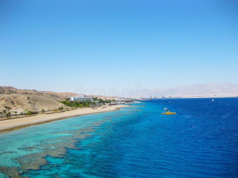 Eilat, la Mer Rouge, Israël images libres de droits