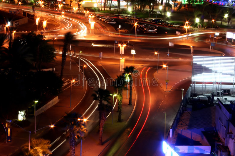 Eilat night city royalty free stock images