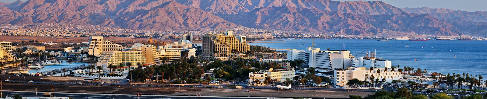Eilat is a popular resort city in Israel royalty free stock photo