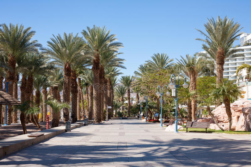 Eilat. The Promenade in Eilat, Israel stock images